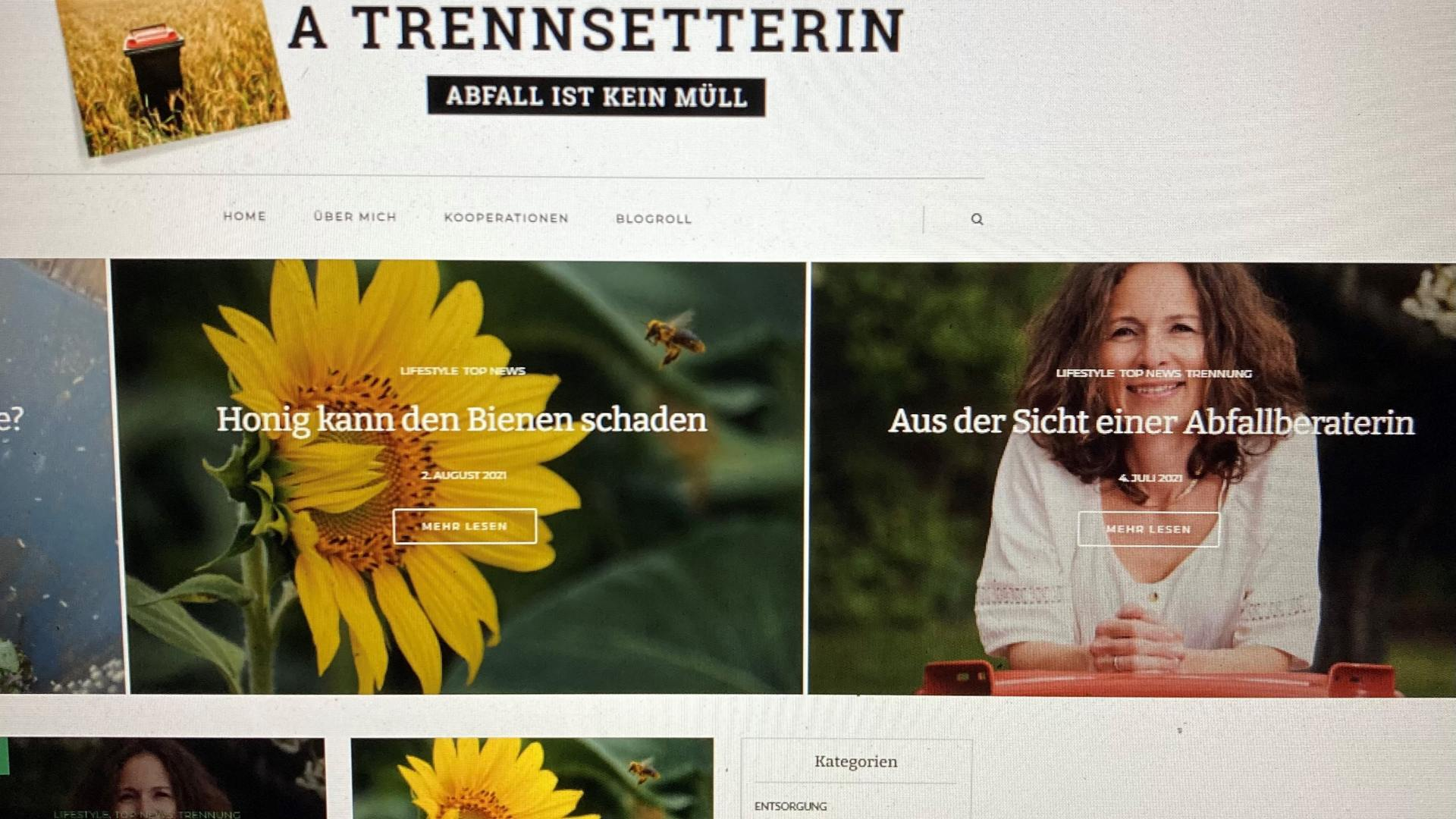 A Trennsetterin: Abfall ist kein Müll!
